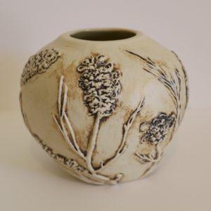 White Spider Flower Vase