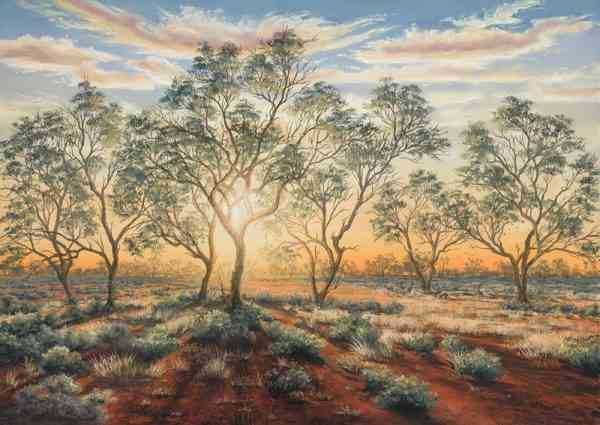The Outback Shines - Floating Acrylic