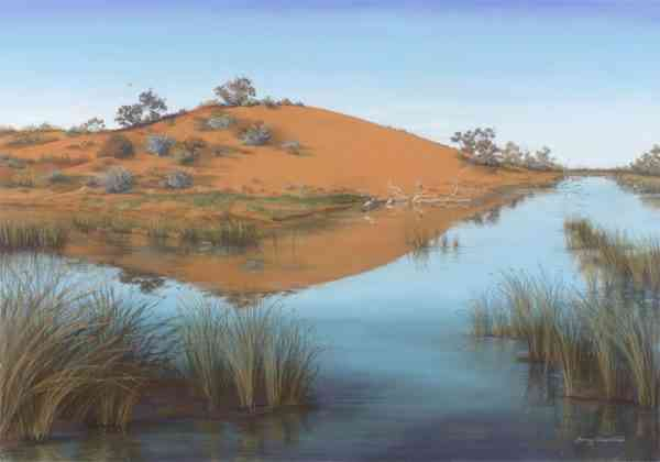 Oasis in the Desert - Floating Acrylic