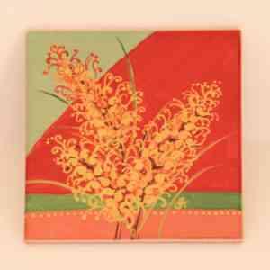 Honeysuckle Spider Flower Coaster